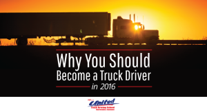 Become a truck driver in 2016!