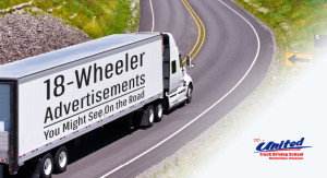 United Truck Driving School features some great truck advertisements